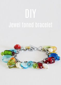 Love this DIY jewel toned bracelet. Perfect for the upcoming holiday season and to add to my gift ideas!