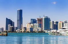 South Beach Miami Skyline Sailcloth Print