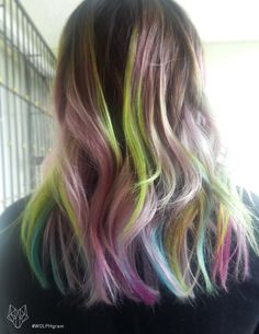 My hair this summer 2015 : ombré / balage #unicornhair! Inspired by -> Irene Kim. #wolphgram Ion color brilliance and manic panic. #rainbowHair #multicolored