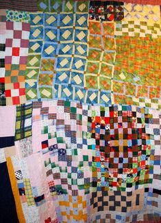 Gee's Bend quilt exhibited at Sainte Marie aux Mines 2009 (France).  Photo by Patch ala Folie