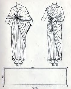The Egyptian cloak. How to wear ancient Egypt costumes.