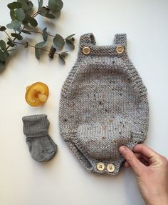 Little Brother's Romper pattern by PetiteKnit, knitting for babies, Knitting For Kids, Baby Knitting Patterns, Baby Patterns, Knitting Projects, Knitted Baby Clothes, Knitted Romper, Baby Knits, Crochet Bebe, Knit Crochet