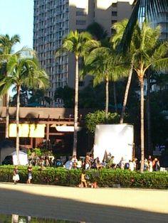 Filming Hawaii five O.