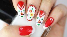 ✿ Embroidery Folk Art Nails ✿ - YouTube
