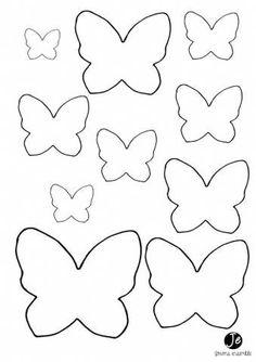 Borboleta de Papel 41 Moldes e como fazer passo a passo Butterfly Felt, Butterfly Wall Art, Paper Butterflies, Butterfly Crafts, Paper Flowers, Butterfly Mobile, Butterfly Birthday, Butterfly Party, Felt Crafts