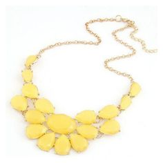 Yellow Drop Gemstone Necklace ($6) ❤ liked on Polyvore featuring jewelry, necklaces, choker jewelry, gem necklace, gemstone necklaces, gem jewelry and choker necklace
