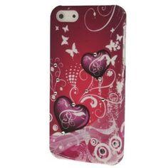 Iphone 5 Cover Herz Rot (harte Rückseite) Type 1 von CNP