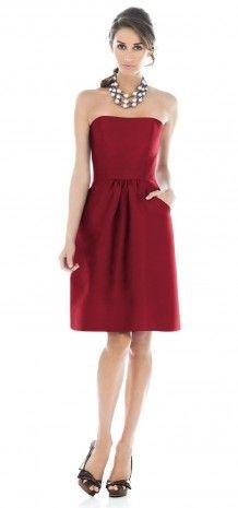 Red Strapless Short Bridesmaid Dress G129