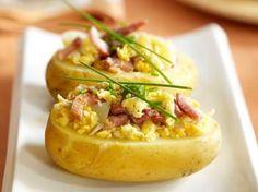 Gevulde aardappel met spek en ei (Libelle Lekker!)