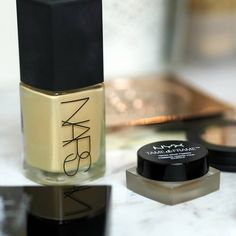 Nars Sheer Glow Nyx Eyebrow Pomade everyday makeup essentials