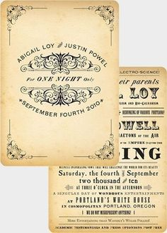 Vintage Wedding Invitation Design