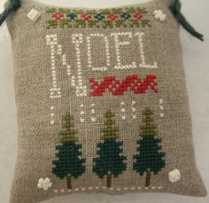 Noel Cross Stitched Christmas Ornament / by luvinstitchin4u, $14.50