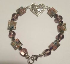 Hey, I found this really awesome Etsy listing at https://www.etsy.com/listing/267591111/glass-bead-bracelet-with-silver-heart