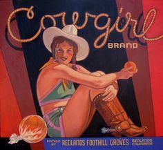 COWGIRL. Orange Label. Redlands, California (USA)