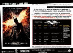 """Si eres socio de la Fnac el 19 de julio te invitamos al preestreno de """"El Caballero Oscuro: La Leyenda Renace"""". ¡Pásate por tu tienda a partir del 14 de julio! http://clubfnac.com/news/338/sites/site_caballero.html"""