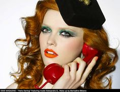 Beauriful! The perfect combination of hawir, lipstick, eyes.