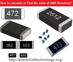 "Example of SMD Resistor Codes. SMD Resistor Chart Calculate & Find the value of SMD Resistor. 3-Digit SMD Resistor Codes 4-Digit & EIA-96 SMD Resistor Codes SMD Resistor stands for ""Surface Mount device"" (Taken out from SMT = Surface Mount Technology) Resistor. These tiny chips are marked with three (3) or four (4) digit codes which is called SMD Resistor codes to indicate their resistance values."