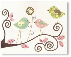 Cute wall art for baby girl's nursery! From etsy