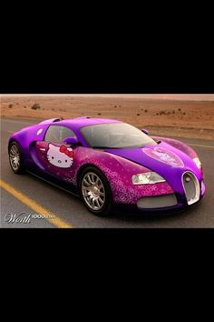 My dream Hello Kitty car!!! Bugati Veron