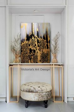 Oil Painting, Original Oil Painting Abstract Modern On Canvas Large Wall Handmade Art by Victoria's Art Design Modern Wall Art, Large Wall Art, Framed Art, Decorating Your Home, Diy Home Decor, Entryway Decor, Wall Decor, Entryway Bench, Victoria Art