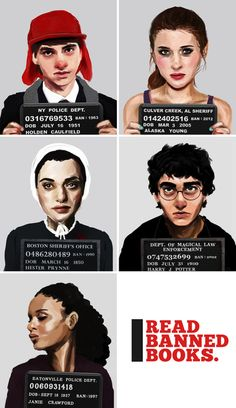 Banned books mug shots