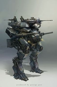 Production of military mecha by georgeguo