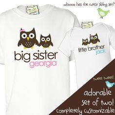 big sister little brother custom shirts  by zoeysattic