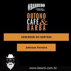 E saiu o sorteio da promoção Outono Café & Barba do O Barbudo em parceria com a Beard...e o vencedor foi o Jeferson Ferreira e vocês podem acompanhar como foi o sorteio no link ⠀ ⠀ https://www.facebook.com/obarbudoloja/videos/1376725645698815/ ⠀ ⠀ Parabéns ao vencedor e esperamos que aproveite bem o seu cafézinho!
