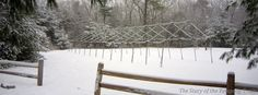 Winter view of the archery range at Camp #Yawgoog.  Image by David R. Brierley.