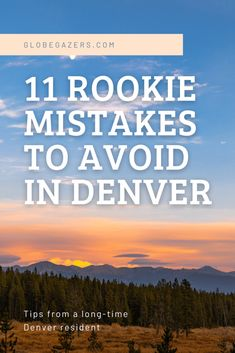 11 Rookie Mistakes to Avoid in Denver, Colorado Travel Advice, Travel Guides, Travel Tips, Rookie Mistake, Travel Usa, Solo Travel, Adventure Travel, Adventure Awaits, Top Travel Destinations