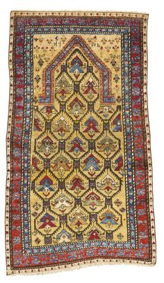 An unusual silk Daghestan prayer rug, Northeast Caucasus | lot | Sotheby's. approximately 3ft. 10in., 2ft. 2in. dated 1235 (1819-1820 AD)