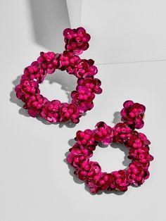 Floretta Sequin Hoop Earrings #AffiliateLink #ad