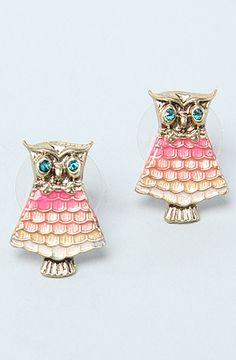 Betsey Johnson Owl Earring