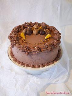 Suklaa-appelsiinitäytekakku // Kääpiölinnan köökissä