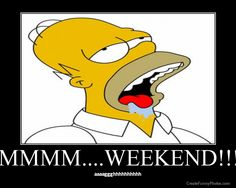 That moment when you can taste the weekend #homes #simpsons #funny #cartoon #friday #weekend #party