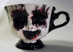 Hand-painted Horror Tea Cups