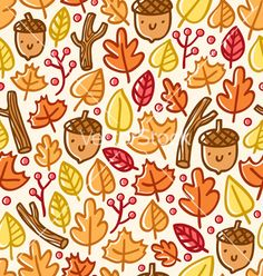 Autumn pattern vector - by stolenpencil on VectorStock®