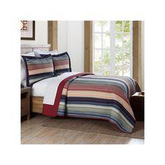 Brooklyn Loom Coney Island Quilt Set, Multicolor