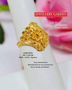 Gold Ring Designs, Gold Bangles Design, Gold Jewellery Design, Bridal Jewellery, Gold Rings Jewelry, Jewelry Design Earrings, Gold Earrings Designs, Gold Ring Indian, Gold Finger Rings