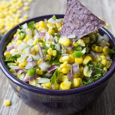Copycat Chipotle Corn Salsa | Skinny Mom |