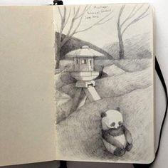 renata liwska #art #journal #sketchbook #moleskine