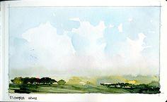 Watercolor Sketchbook, Watercolor Landscape, Abstract Watercolor, Art Sketchbook, Abstract Landscape, Landscape Paintings, Watercolor Paintings, Watercolour Tutorials, Watercolor Techniques