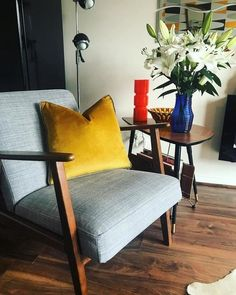 Shop for Furniture, Home Accessories & Grey Armchair, Mid Century Living Room, Affordable Furniture, Cool Chairs, Home Decor Styles, Home Furnishings, Home Accessories, Living Room Decor, Accent Chairs