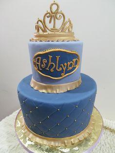 First Birthday Fondant cake with Princess Sophia them. Hand made sugar crown. Vanilla cake with blueberry buttercream. Crown Vanilla, Vanilla Cake, Princess Sophia, Princess Tiara, Custom Birthday Cakes, Custom Cakes, Queen Cakes, Crown Cake, Tiaras And Crowns