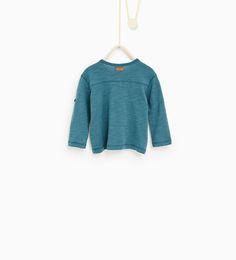 ZARA - KINDEREN - T-shirt met polosluiting