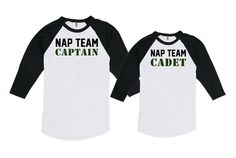 5f1c6a57d Father Son Matching Shirts Matching Father And Baby Nap Team Captain Nap  Team Cadet Bodysuit America