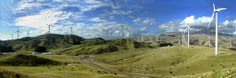 The Te Apiti wind farm is located on the north side of the Manawatu Gorge, in the North Island, from the city of Palmerston North. Wind Power, See It, New Zealand, Island, Mountains, City, Travel, Block Island, Viajes