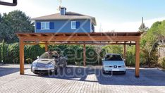 Garaje de madera independiente Pergola, Outdoor Structures, Garages, Wood, Arbors