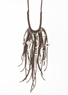 seawitchgoddess:(via Tahoe Fringe Necklace - Brown by SoulMakes)
