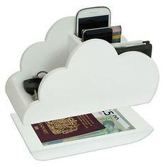 Wiki White Cloud Storage Novelty Wooden Desk tidy Organiser NEW | eBay